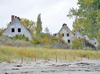 Häuser auf Insel Wustrow